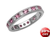 Karina B™ Genuine Pink Sapphire Eternity Band style: 8017P