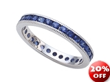 Karina B™ Genuine Sapphire Eternity Band With Millgrain