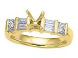 Karina B™ Baguette Diamonds Engagement Ring