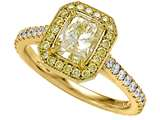 Fancy Yellow Natural Diamond Pave Ring