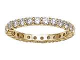 Karina B Round Diamonds Shared Prongs Eternity Band