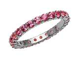 Karina B Genuine Pink Sapphire Shared Prongs Eternity Band