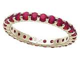 Karina B™ Genuine Ruby Shared Prongs Eternity Band