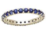 Karina B Genuine Sapphire Shared Prongs Eternity Band