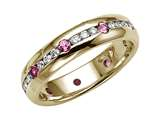 Karina B Genuine Pink Sapphire Eternity Band