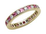 Karina B™ Genuine Pink Sapphire Eternity Band style: 8011P