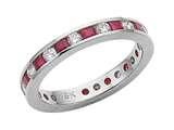 Karina B™ Genuine Ruby Eternity Band style: 8011R