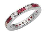 Karina B™ Genuine Ruby Eternity Band style: 8012R