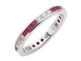 Karina B™ Genuine Ruby Eternity Band style: 8013R