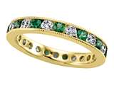 Karina B™ Tsavorite and Diamonds Eternity Band