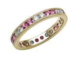 Karina B Pink Sapphire Eternity Band With Millgrain
