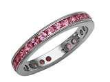 Karina B Genuine Pink Sapphire Eternity Band With Millgrain