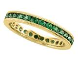 Karina B™ Tsavorite Eternity Band With Milgrain