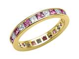 Karina B™ Genuine Pink Sapphire Eternity Band style: 8043DP