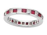 Karina B™ Genuine Ruby Eternity Band style: 8043DR