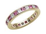 Karina B™ Genuine Pink Sapphire Eternity Band style: 8043P