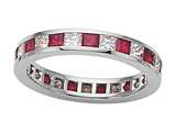 Karina B™ Genuine Ruby Eternity Band style: 8043R