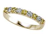 Karina B™ Diamond and Yellow Sapphire Band