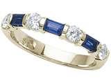 Karina B™ Genuine Sapphire Band style: 8071S