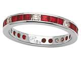 Karina B™ Genuine Ruby Eternity Band style: 8072R