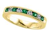 Karina B™ Diamond and Tsavorite Band With Milgrain