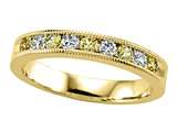 Karina B™ Diamond and Yellow Sapphire Band W/milgrain