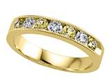 Karina B™ Diamond and Yellow Sapphire Band With Milgrain