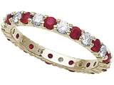 Karina B™ Genuine Ruby Eternity Band style: 8091R