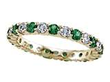 Karina B Diamond and Tsavorite Eternity Band