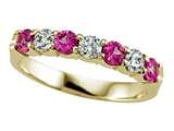 Karina B Diamond and Pink Sapphire Band