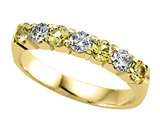 Karina B™ Round Diamond and Yellow Sapphire Band