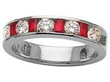 Karina B™ Genuine Ruby Band style: 8103R