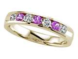 Karina B™ Round Diamond and Pink Sapphire Band