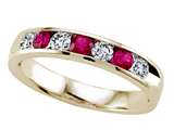Karina B Round Diamond and Ruby Band