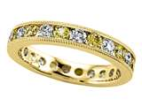 Karina B™ Diamond and Yellow Sapphire Eternity Band