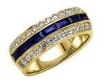 Karina B™ Genuine Sapphire Band style: 8111S
