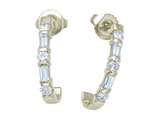 Karina B Baguette Diamonds Earrings