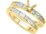 Karina B™ Baguette Diamonds Wedding Set