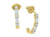 Karina B™ Baguette Diamonds Earrings style: 8152