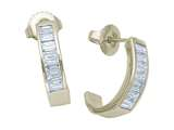 Karina B™ Baguette Diamonds Earrings style: 8153