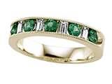 Karina B™ Diamond Baguette and Tsavorite Round Band W/milgrain style: 8166T