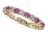 Karina B Round Diamond and Pink Sapphire Eternity Band