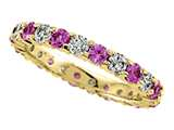 Karina B™ Round Diamond and Pink Sapphire Eternity Band style: 8173PD