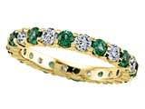 Karina B™ Round Diamond and Tsavorite Eternity Band style: 8173TD
