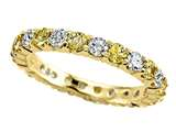 Karina B™ Round Diamond and Yellow Sapphire Eternity Band