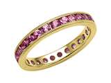 Karina B™ Genuine Pink Sapphire Eternity Band With Millgrain