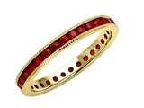 Karina B™ Round Ruby All Around Band W/milgrain style: 8235R