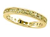 Karina B™ Round Yellow Sapphire Eternity Band With Milgrain