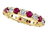Karina B™ Round Diamond and Ruby Eternity Band