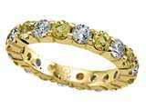 Karina B Yellow Sapphire Eternity Band